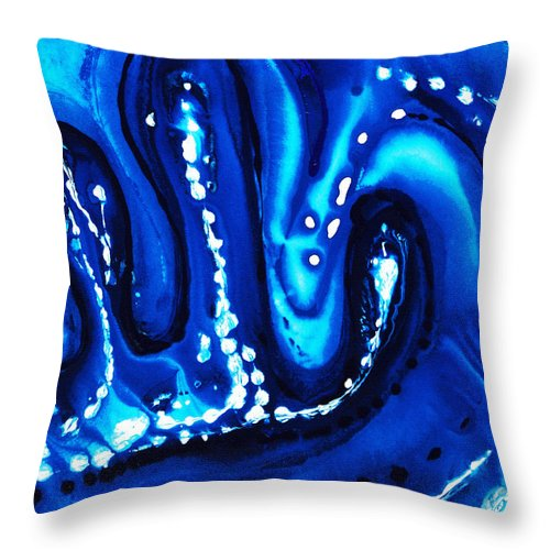 Big Blue Throw Pillows : Blue Abstract Art - Big Blue - By Sharon Cummings Throw Pillow for Sale by Sharon Cummings