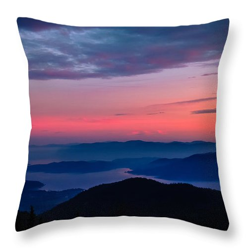 Blue Afternoon Throw Pillow featuring the photograph Blue Afternoon by Maria Trujillo