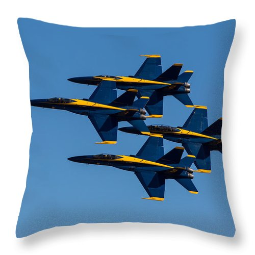 Blue Throw Pillow featuring the photograph Blue Angel Diamond by John Daly