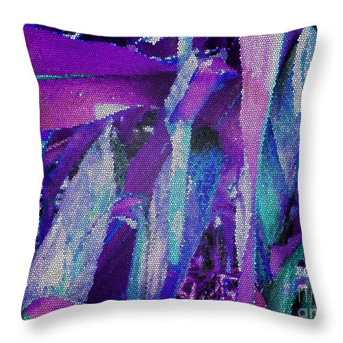 Abstract Art Throw Pillow featuring the photograph Blue Corn by Tina M Wenger