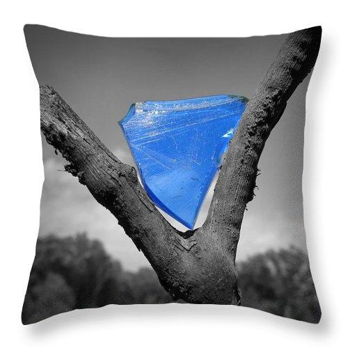 Nature Throw Pillow featuring the photograph Blue Glass Art by Matt Taylor