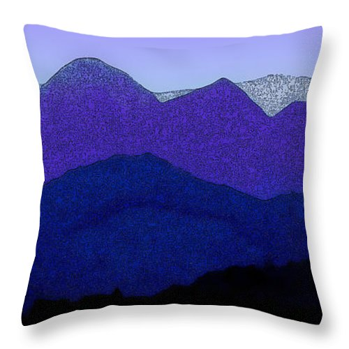 Scenic Throw Pillow featuring the photograph Blue Hue Of The Pyrenees by Linda Parker