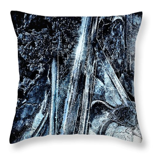 Blue Throw Pillow featuring the photograph Blue Ice by Lucy VanSwearingen