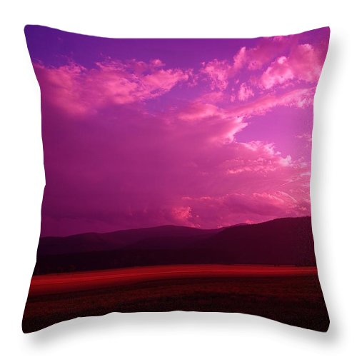 Clouds Throw Pillow featuring the photograph Blue In Bonners Ferry by Jeff Swan