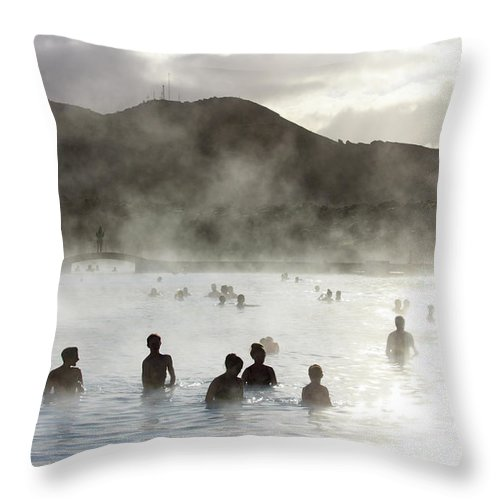 Spa Throw Pillow featuring the photograph Blue Lagoon Geothermal Spa by Thomas Janisch