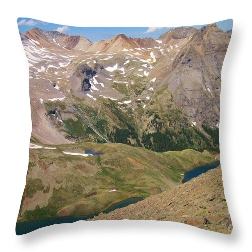 Blue Lakes Throw Pillow featuring the photograph Blue Lakes by Tonya Hance