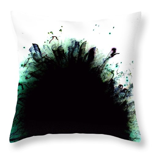 Abstract Throw Pillow featuring the photograph Blue by Laurette Escobar