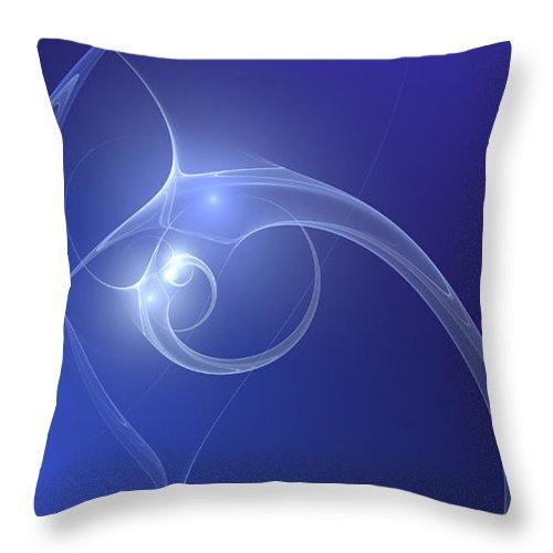 Digital Art Throw Pillow featuring the digital art Blue Light by Gabiw Art