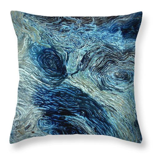Maze Throw Pillow featuring the photograph Blue Maze 1 by Joyce Dickens