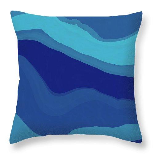 Blue Throw Pillow featuring the digital art Blue Motion by David G Paul
