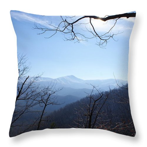 Sky Throw Pillow featuring the photograph Blue Mountain Sky by Renee Frazier