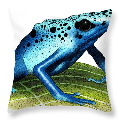 Art Throw Pillow featuring the photograph Blue Poison Dart Frog by Roger Hall