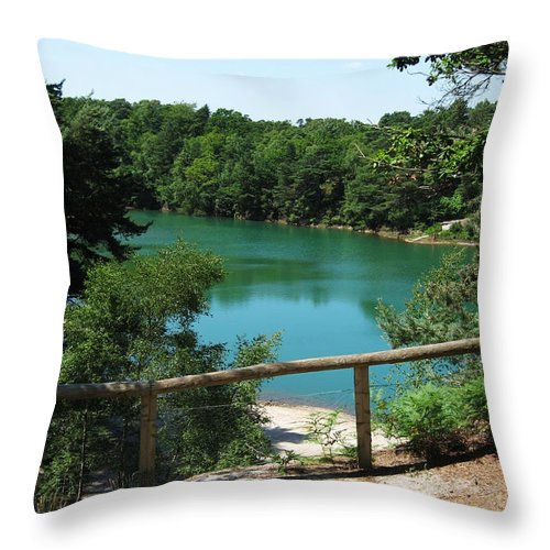 Blue Pool Throw Pillow featuring the photograph Blue Pool by Gillian Dernie
