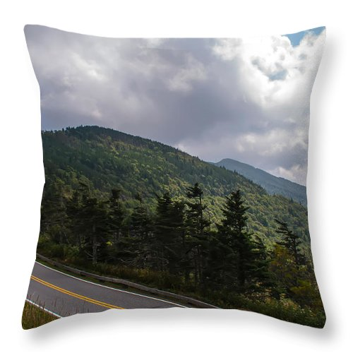 Autumn Throw Pillow featuring the photograph Blue Ridge Mountains And Blue Ridge Parkway by Alex Grichenko