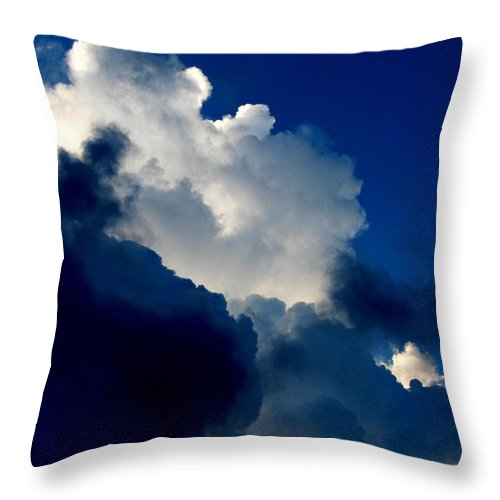Patzer Throw Pillow featuring the photograph Blue Skies by Greg Patzer