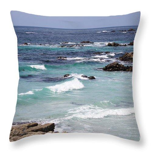 Blue Surf Throw Pillow featuring the photograph Blue Surf by Carol Groenen