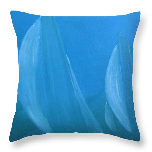 Sail Throw Pillow featuring the painting Blue by Susan Richardson