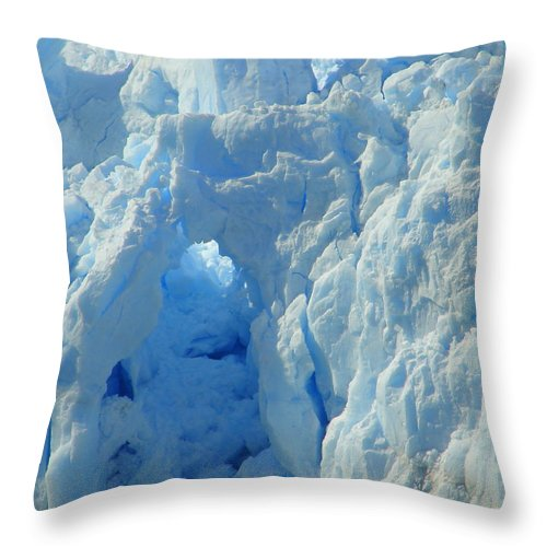 Alaska Throw Pillow featuring the photograph Blue Tunnel by Lew Davis