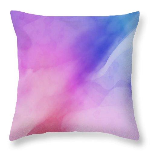 Blue Throw Pillow featuring the digital art Blue Veil by Daniel Hagerman