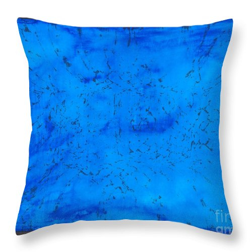 Abstract Throw Pillow featuring the painting Blue Velvet by Myrtle Joy