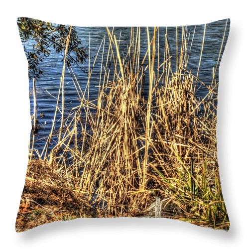 Hdr Throw Pillow featuring the photograph Blue Water 2 by John Straton