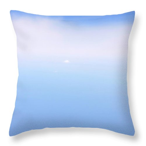 Blue Throw Pillow featuring the photograph Blue-white 05 by Matild Balogh