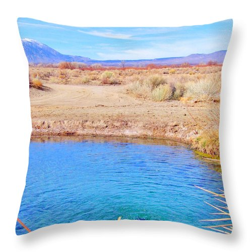 Sky Throw Pillow featuring the photograph Blue World by Marilyn Diaz