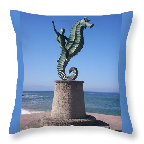 Jandrel Throw Pillow featuring the photograph Blue Yonder by J Andrel