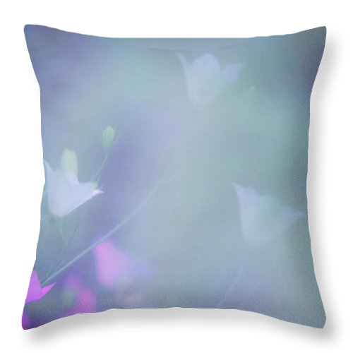 Blue Bell Throw Pillow featuring the photograph Bluebell Fantasy by Jenny Rainbow