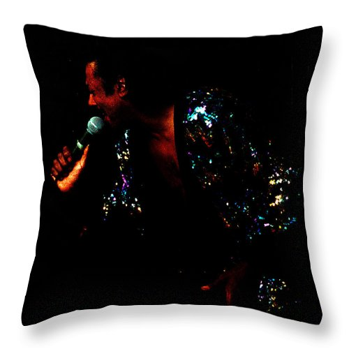 Blues Singer Throw Pillow featuring the photograph Blues Lover by Leon Hollins III