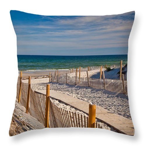 America Throw Pillow featuring the photograph Boardwalk To Cape Cod Bay by Susan Cole Kelly