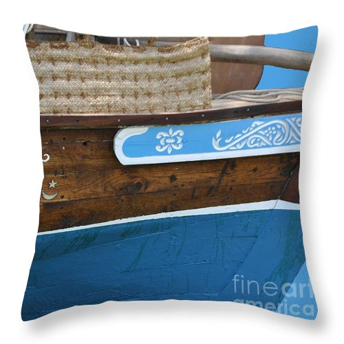 Boat Throw Pillow featuring the photograph Boat Of Lamu by Jost Houk