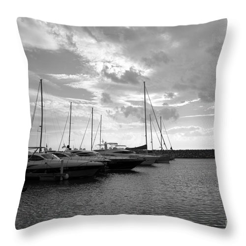 Boat Throw Pillow featuring the photograph Boats 4 by Ramona Matei