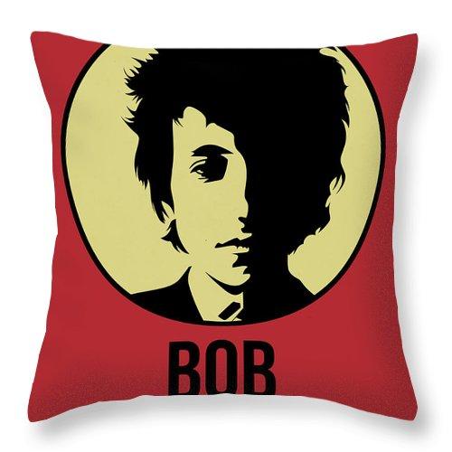 Music Throw Pillow featuring the digital art Bob Poster 1 by Naxart Studio