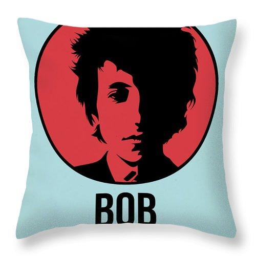 Music Throw Pillow featuring the digital art Bob Poster 2 by Naxart Studio