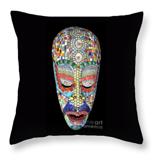 African Throw Pillow featuring the photograph Bob Why The Long Face by Valerie Fuqua