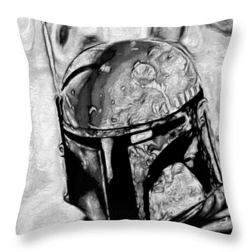 Boba Fett Throw Pillow featuring the digital art Boba Fett 1 by Fli Art