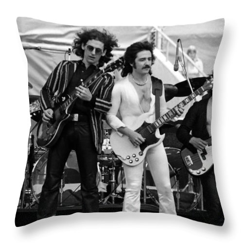 Blue Oyster Cult Throw Pillow featuring the photograph Boc #11 Crop 2 by Ben Upham