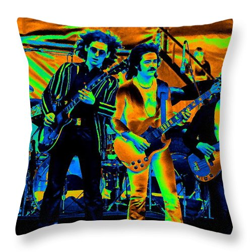 Blue Oyster Cult Throw Pillow featuring the photograph Boc #11 In Cosmicolors by Ben Upham