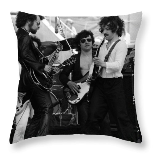 Blue Oyster Cult Throw Pillow featuring the photograph Boc #12 by Ben Upham