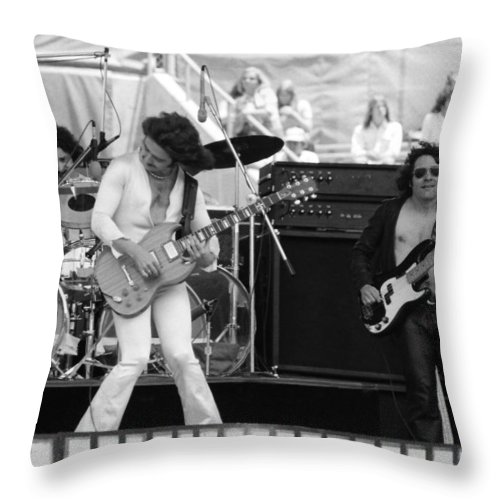 Blue Oyster Cult Throw Pillow featuring the photograph Boc #8 by Ben Upham