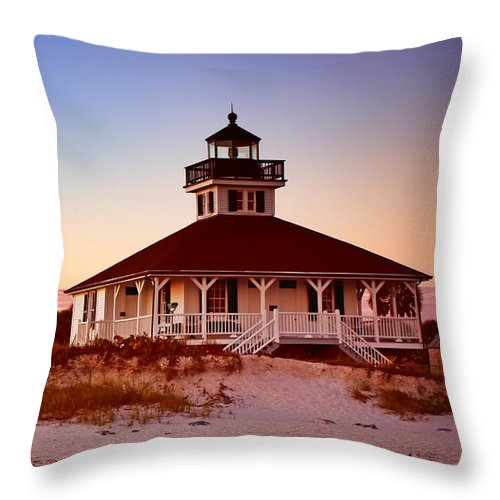 Boca Grande Throw Pillow featuring the photograph Boca Grande Lighthouse - Florida by Nikolyn McDonald