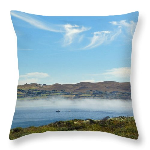 Bodega Harbor Throw Pillow featuring the photograph Bodega Harbor II by Suzanne Gaff