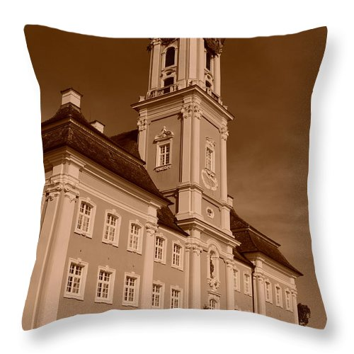 Bodensee Throw Pillow featuring the photograph Church by Miguel Winterpacht