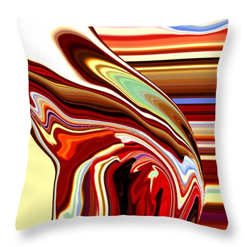 Body Throw Pillow featuring the painting Body Heat II by Donna Proctor