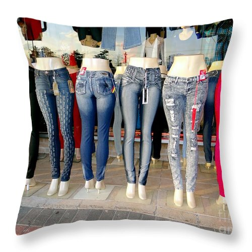 Mannequins Throw Pillow featuring the photograph Body Parts by Ed Weidman