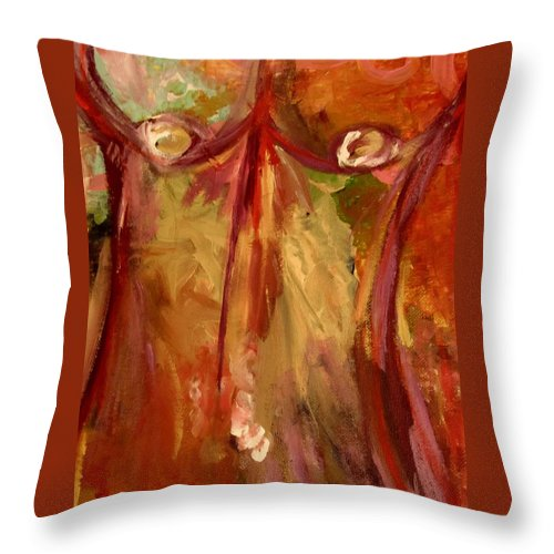 Body Throw Pillow featuring the painting Body by Shelby Robbins
