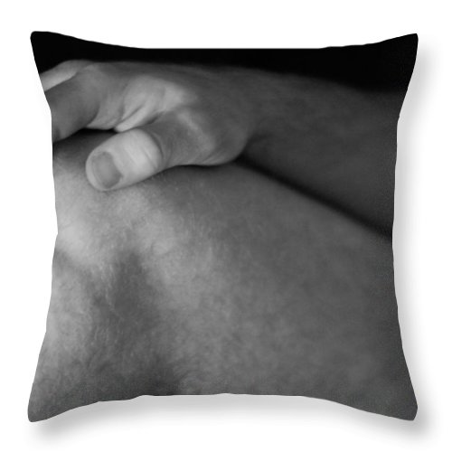 Nude Throw Pillow featuring the photograph Bodyscape 19 by Rick Saint