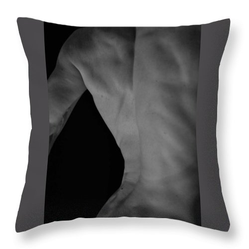Nude Throw Pillow featuring the photograph Bodyscapes 30 by Rick Saint