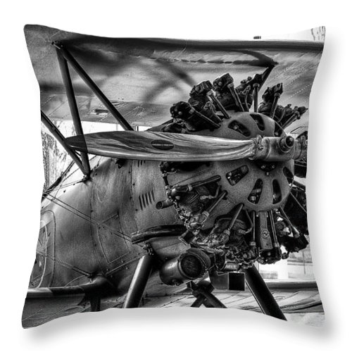 Boeing 100/p-12/f4b Throw Pillow featuring the photograph Boeing 100p Fighter II by David Patterson